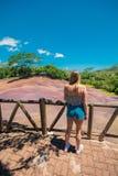 La terre colorée de Chamarel sept photos stock