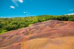 La terre colorée de Chamarel sept photo stock