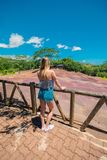 La terre colorée de Chamarel sept images stock