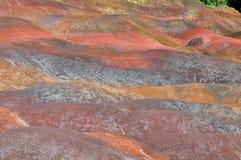 la terre colorée par 7 du chamarel Photo libre de droits