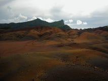 La terre colorée par sept, Îles Maurice images libres de droits