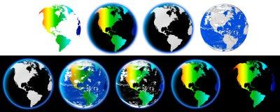 La terre complètement de couleurs Photo libre de droits