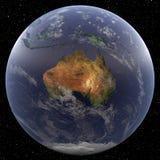 La terre concentrée sur l'Australie Image libre de droits