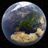 La terre concentrée sur l'Europe du Nord Photo stock