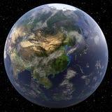 La terre concentrée sur la Chine Photos libres de droits