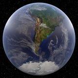 La terre concentrée sur le Pôle du sud Photos libres de droits