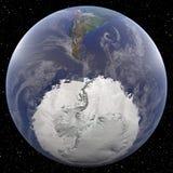 La terre concentrée sur Pôle du sud Photographie stock libre de droits