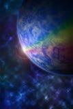 La terre couvre le soleil dans une belle éclipse solaire Photos libres de droits