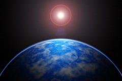 La terre couvre le soleil dans une belle éclipse solaire Image libre de droits