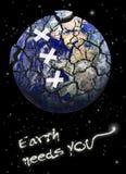 La terre criquée Images stock