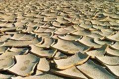 La terre criquée Image stock