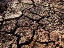 La terre criquée Photos stock