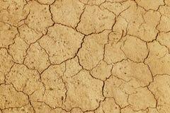 La terre criquée et sèche est jaune Un désert sans eau La terre aride Soif pour l'humidité sur un espace sans vie Situa écologiqu photos libres de droits