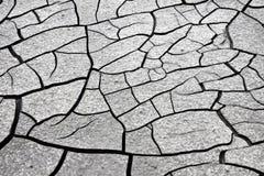 La terre criquée : les effets de la sécheresse - image de concept photographie stock