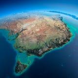 La terre détaillée. Australie et la Tasmanie illustration stock