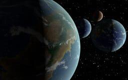 la terre 3D aiment des planètes illustration libre de droits