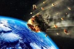 La terre d'essaim de météorite illustration de vecteur