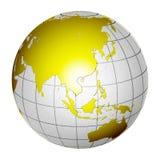La terre d'isolement 3D de globe de planète Image libre de droits