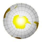 La terre d'isolement 3D de globe de planète illustration libre de droits