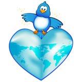 La terre d'oiseau bleu de bip Image stock
