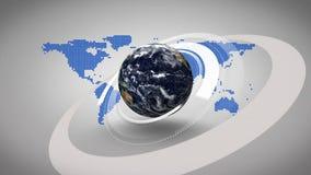 la terre 3d tournant sur le fond bleu de carte illustration libre de droits
