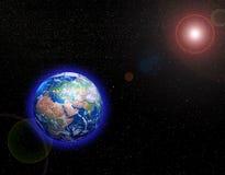 La terre dans l'espace Photo stock