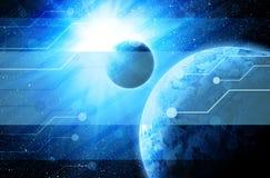 La terre dans l'espace illustration stock