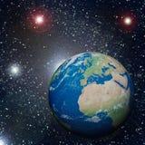 La terre dans l'espace Image libre de droits