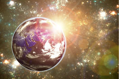 La terre dans l'espace. Images libres de droits