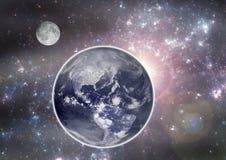 La terre dans l'espace. illustration de vecteur