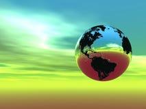 La terre dans la lumière (trouvez juste plus dans mon portefeuille) Photos libres de droits