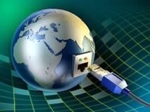 La terre de câble illustration stock
