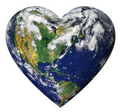 La terre de coeur Photographie stock libre de droits