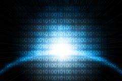 La terre de Digitals dans l'espace Image libre de droits