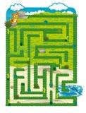 La terre de dinosaure - jeu pour des enfants - labyrinthe Photographie stock