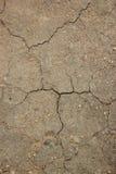 La terre de fente de texture du temps chaud Image libre de droits