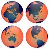 La terre de globe du monde Images stock