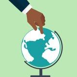 La terre de globe plate Photo libre de droits