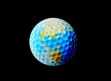La terre de golf Photos stock