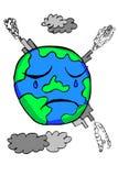 La terre de griffonnage - pollution illustration de vecteur
