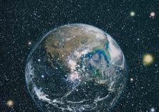 La terre de l'espace Éléments de cette image meublés par la NASA Photographie stock