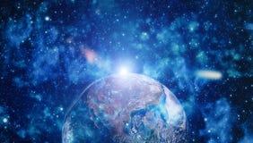 La terre de l'espace Éléments de cette image meublés par la NASA Photo stock