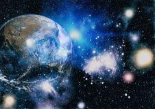 La terre de l'espace Éléments de cette image meublés par la NASA Photos libres de droits