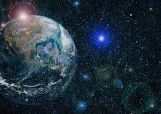 La terre de l'espace Éléments de cette image meublés par la NASA Images libres de droits