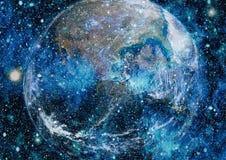 La terre de l'espace Éléments de cette image meublés par la NASA Image libre de droits