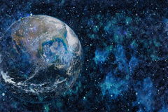 La terre de l'espace Éléments de cette image meublés par la NASA Image stock