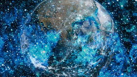 La terre de l'espace Éléments de cette image meublés par la NASA Photo libre de droits