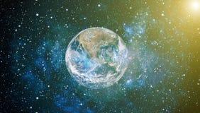 La terre de l'espace Éléments de cette image meublés par la NASA Images stock