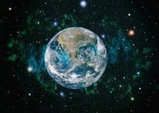 La terre de l'espace Éléments de cette image meublés par la NASA Photos stock