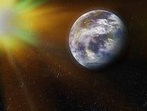 La terre de l'espace. Éléments de cette image meublés par la NASA. Images libres de droits